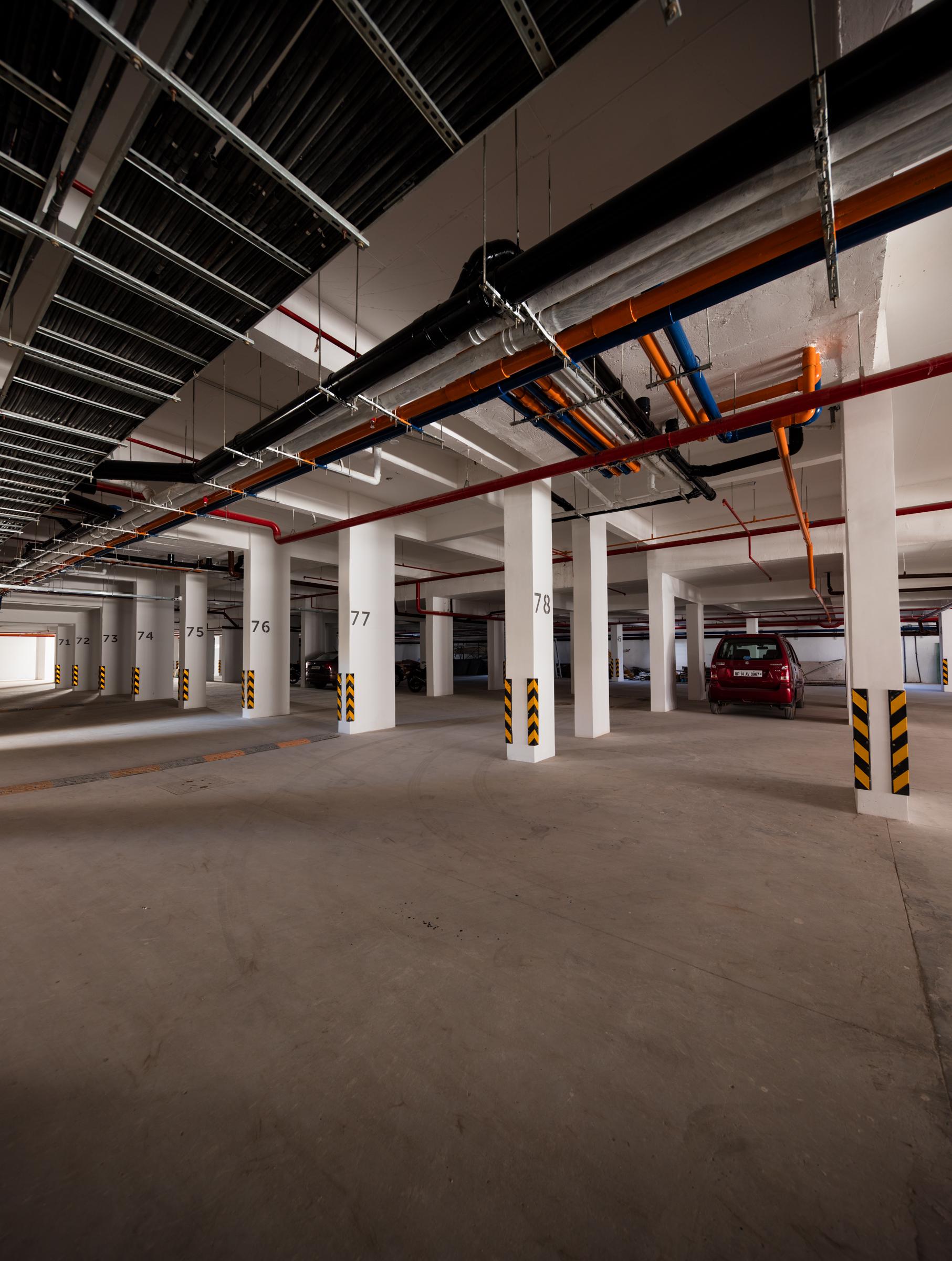 basement area car parking slots